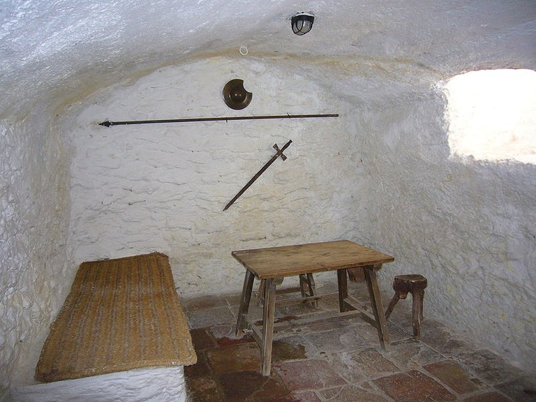 Inside the house of Medrano where Miguel de Cervantes was imprisoned in their underground cave. /©commonswiki