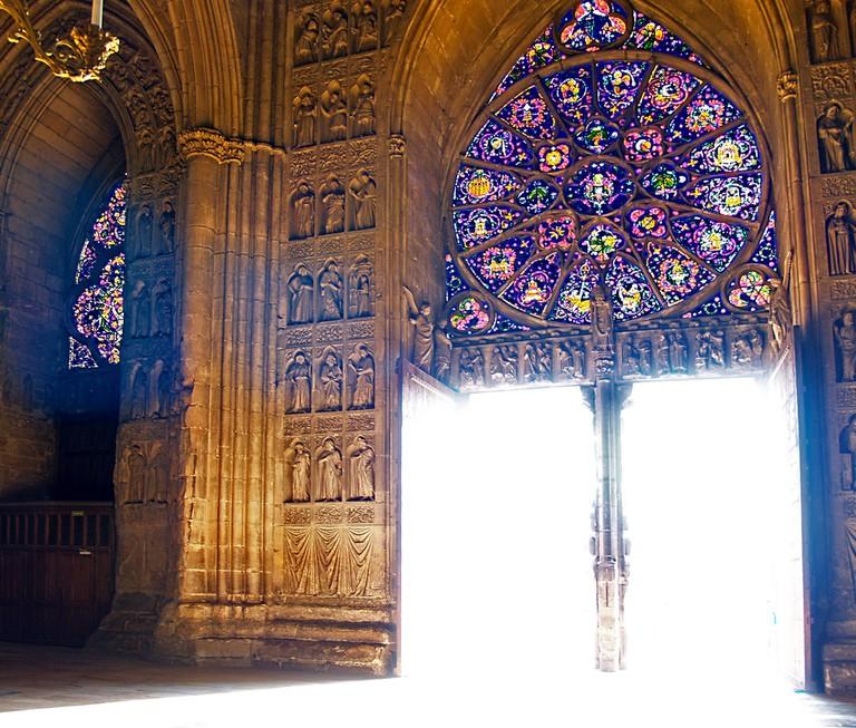 Reims cathedral, doorway