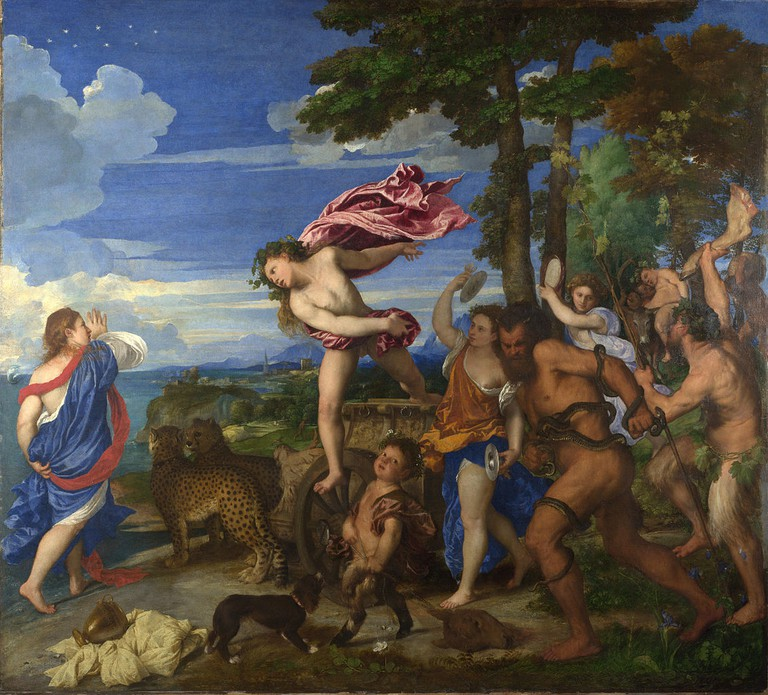 Titian, Bacchus and Ariadne, Oil on canvas, 176.5 x 191 cm, National Gallery, London, 1520-1523 | © Oursana/WikiCommons
