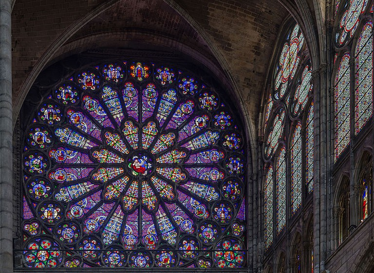 Basilica of Saint Denis North Transept Rose | © WikiCommons