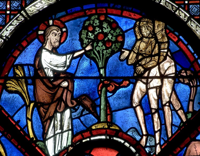 The Good Samaritan Vitrail at Chartres Cathedral| © WikiCommons