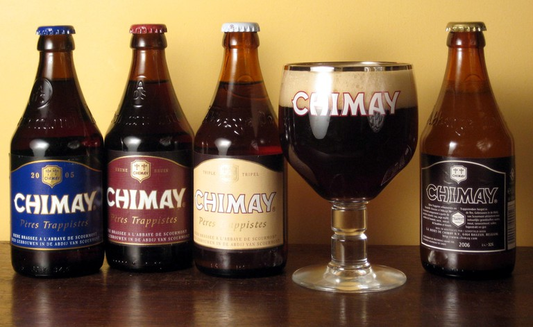 The four Chimay trappist beers