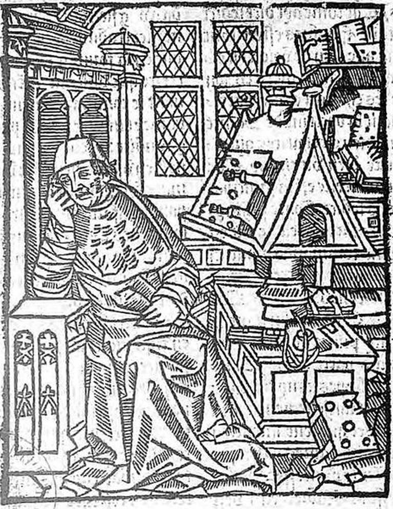 An engraving of Chrétien de Troyes | © Bibliothèque Nationale de France/WikiCommons