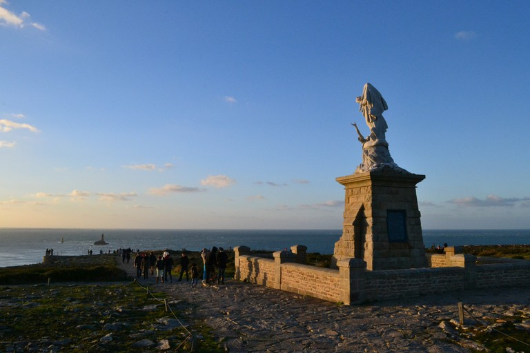 The Statue of Notre Dame de Naufrages guarding the ocean |© Hristos Fleturis