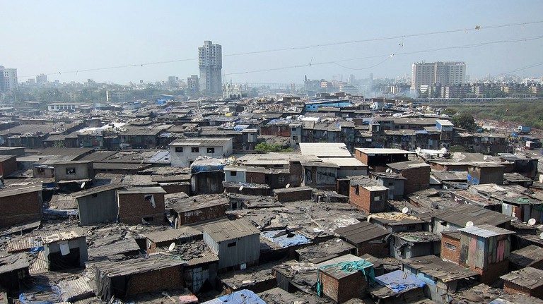 View of the expansive Dharavi Slum