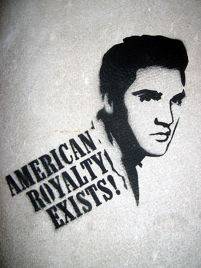 Elvis Presley stencil | © Jorge Barrios/WikiCommons