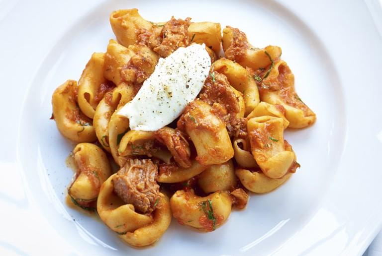 Formento's Canestri with Sunday Gravy ©Derek Richmond