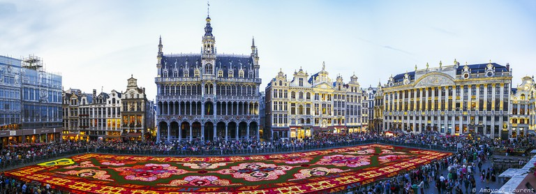 The Flower Carpet at the Grand Place|©Amaya & Laurent/Flickr