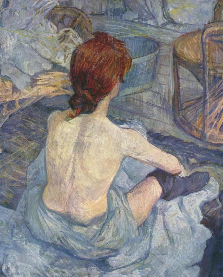 Henri de Toulouse-Lautrec, (Rousse) La Toilette, oil on cardboard, 1889