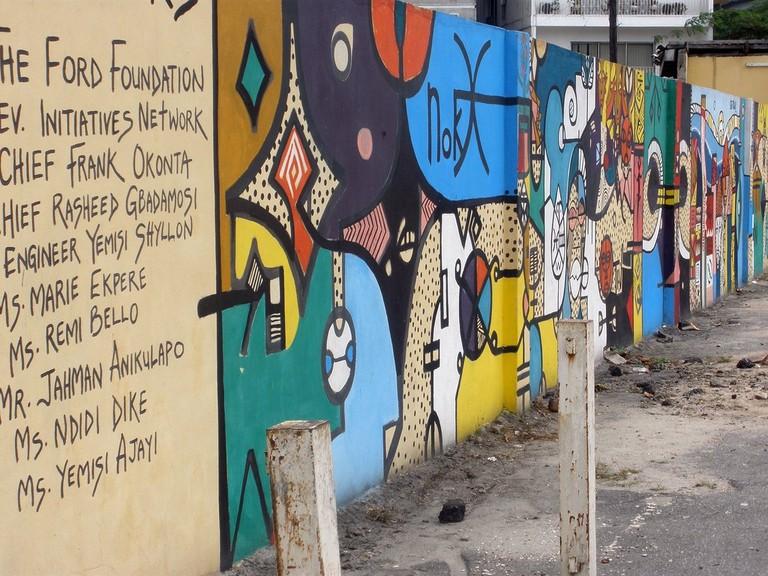 Mural at the Nigerian National Museum, Lagos