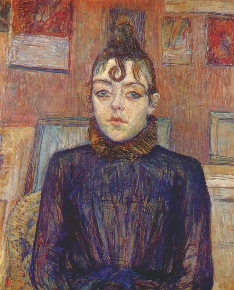Toulouse-Lautrec's 'Girl with Lovelock' | ©Petrusbarbybere / Wikicommons
