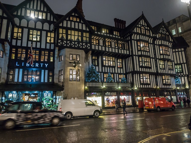 Liberty of London, during the Christmas shopping season, 2012 | ©James Petts