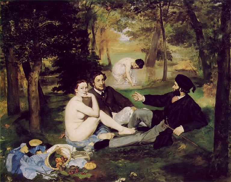 Édouard Manet, Le Déjeuner sur l'herbe, 1863/ © Musée D'Orsay/WikiCommons