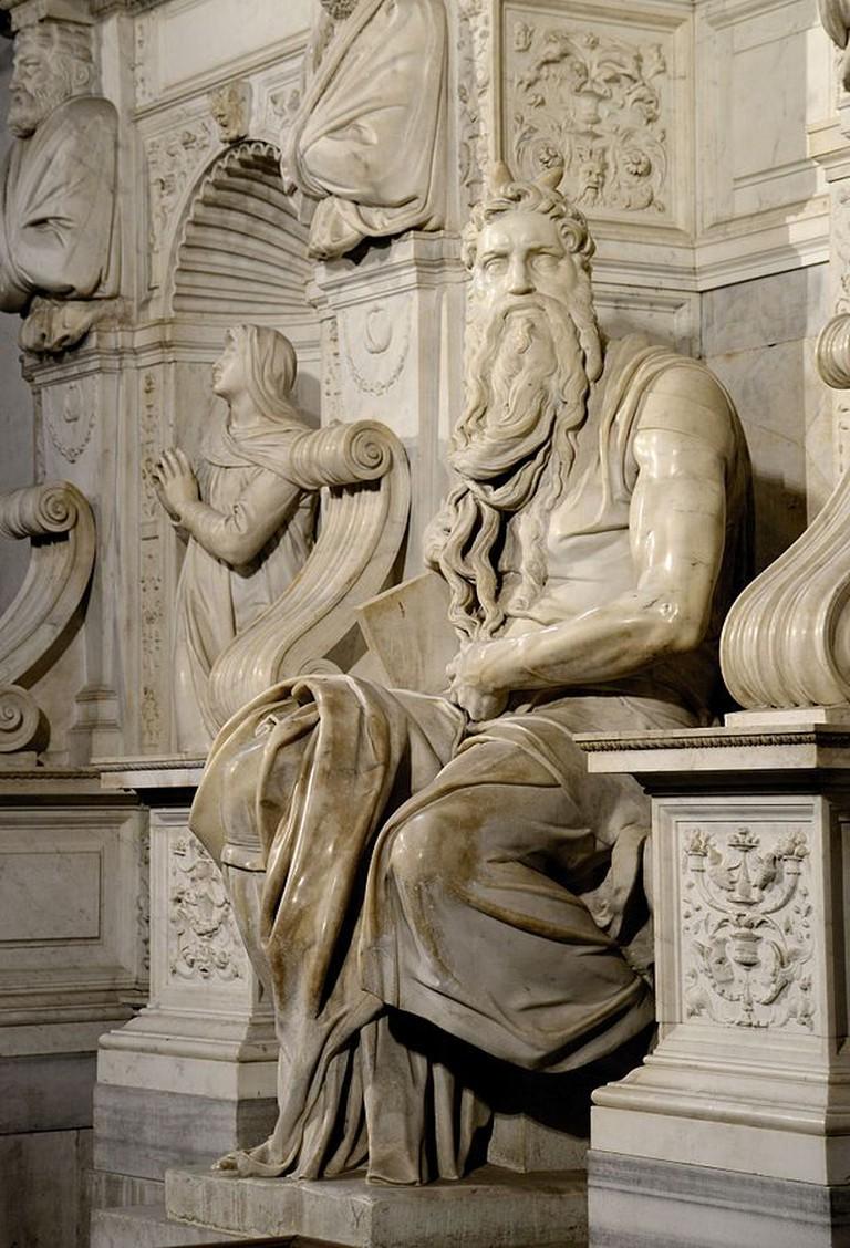 Michelangelo, Moses, Basilica di San Pietro in Vincoli, Rome, c. 1513-1515 | © Alvesgaspar/WikiCommons