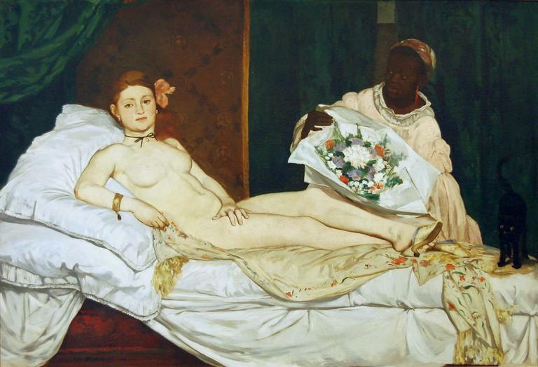 Édouard Manet, Olympia, oil on canvas, 1863