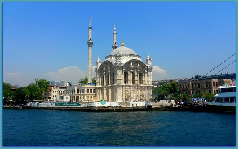 Ortaköy Mosque from Bosphorus Cruise Boat. © Serhat Engul