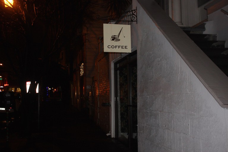 The exterior of Wrecking Ball Coffee