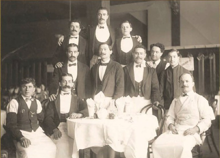 Some of Fior D'Italia's waiters pose for a portrait | Courtesy of Fior D'Italia