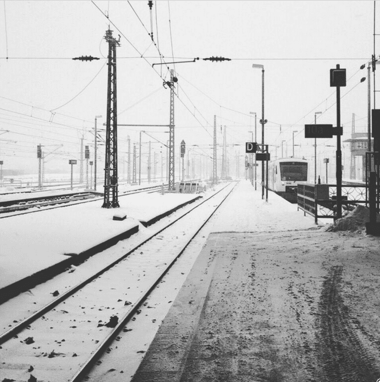 This is a view from the main station in winter 2014. For a long time I had to travel a lot between Leipzig and Bremen on the weekends, and over this time I saw many train stations and spent a lot of time on trains. This picture says Hi and Goodbye at the same time.