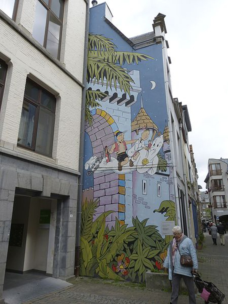A comic book wall of Spike and Suzy in Brussels|©Stefflater/Wiki Commons