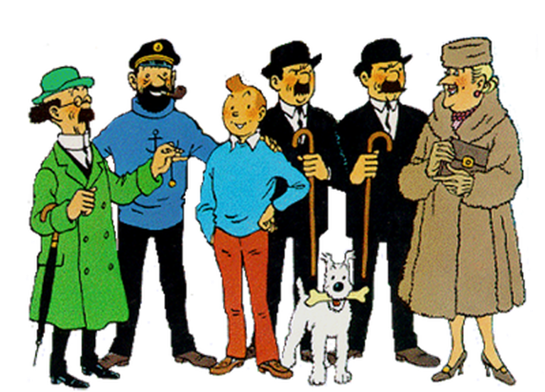 The main cast of The Adventures of Tintin, the comics series by Hergé|©Hergé Foundation/ Wiki Commons