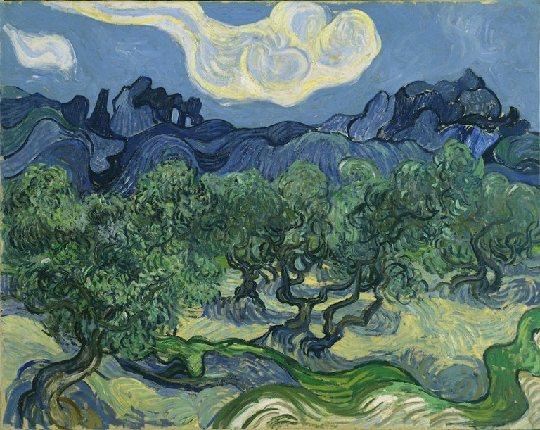 Vincent van Gogh, Olive Trees in a Mountainous Landscape, 1889 | © Museum of Modern Art/WikiCommons