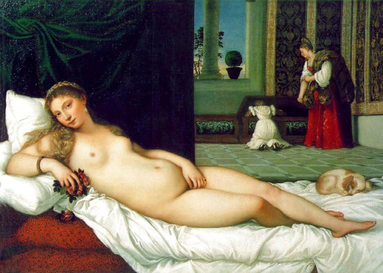Titian, Venus of Urbino, Oil on canvas, 119 x 165 cm, Galleria degli Uffizi, Florence, 1538 | © Sir Gawain/WikiCommons