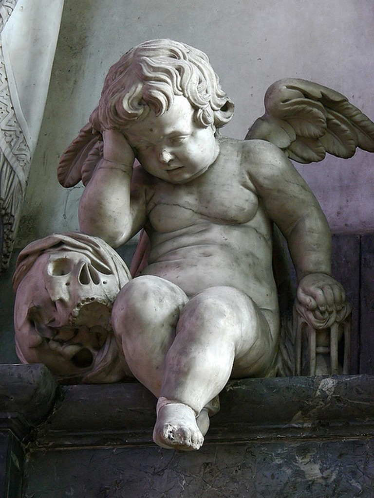 Weeping Angel statue at Amiens Cathedral