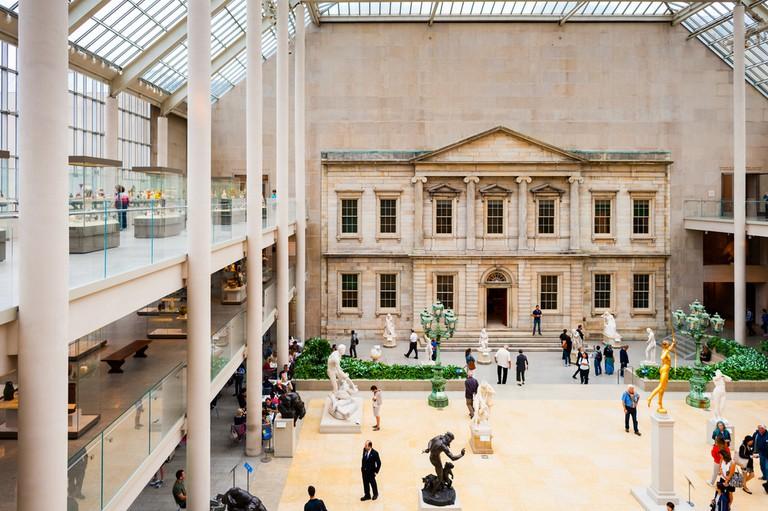 The Charles Engelhard Court in the American Wing of Metropolitan Museum of Art