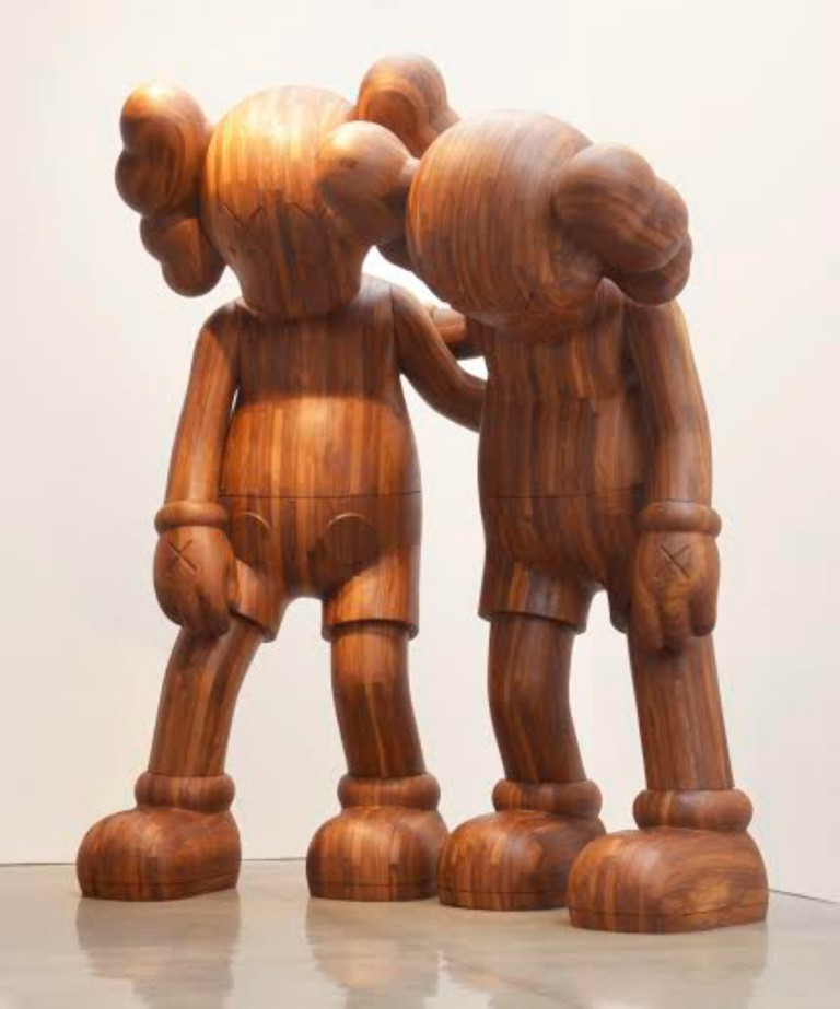 KAWS (American, born 1974). ALONG THE WAY, 2013. Wood, 216 x 176 x 120 in. (548.6 x 447 x 304.8 cm) overall. Brooklyn Museum; Gift in honor of Arnold Lehman, TL2015.27a‒b. © Adam Reich | Courtesy of Mary Boone Gallery