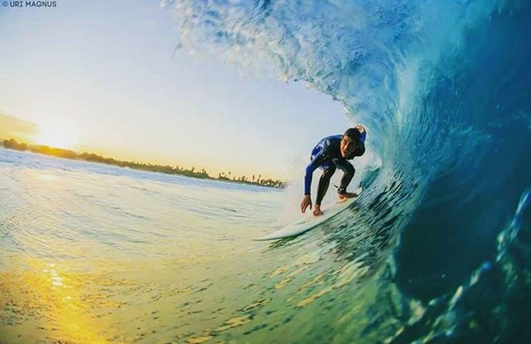 Surfing in TLV Courtesy of Uri Magnus