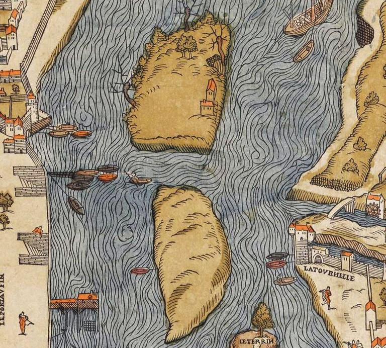 The islets before they were joined to form Île Saint-Louis | © WikiCommons