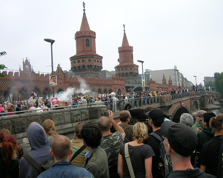Berlin Wasserschlacht at the bridge | © Mazbln/WikimediaCommons