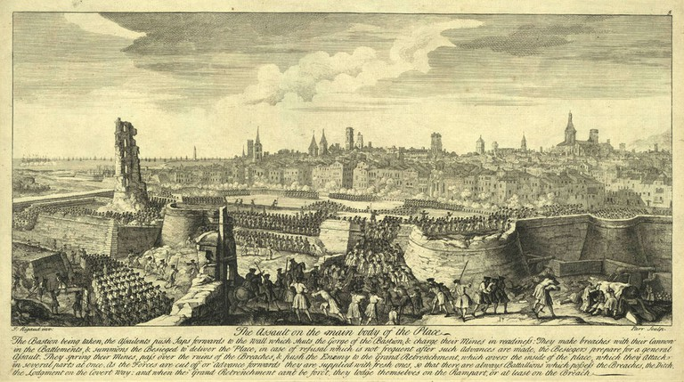 The Siege of Barcelona by Jacques Rigaud