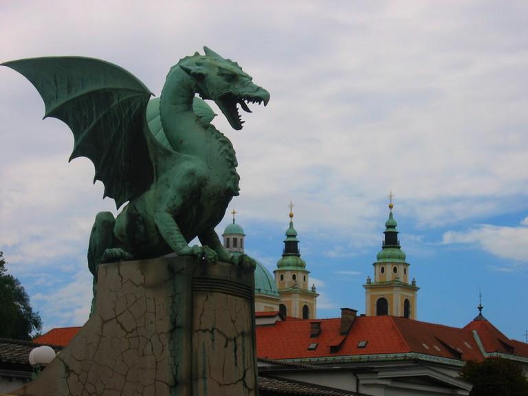 Dragon statue in Ljubljana © Victoria Reay/Flickr
