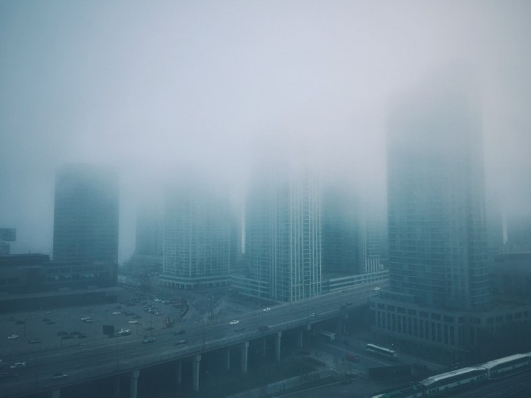 Toronto in the fog