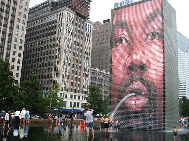 Crown Fountain by Jaume Plensa | © squidish/Flickr