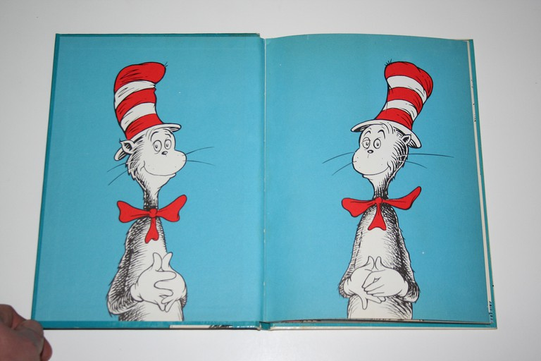 """The Cat in the Hat"" - First Edition - Inside Front Cover 