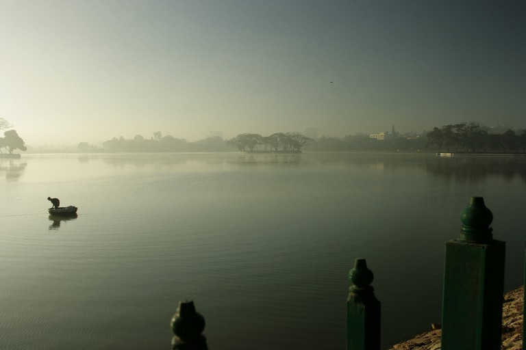 Fisherman at Ulsoor Lake | © Swaminathan