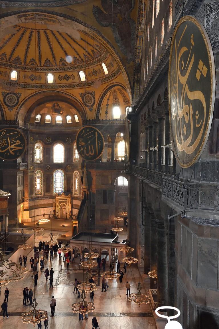 Interior of the Hagia Sofia, Istanbul | © Tim Adams/Flickr
