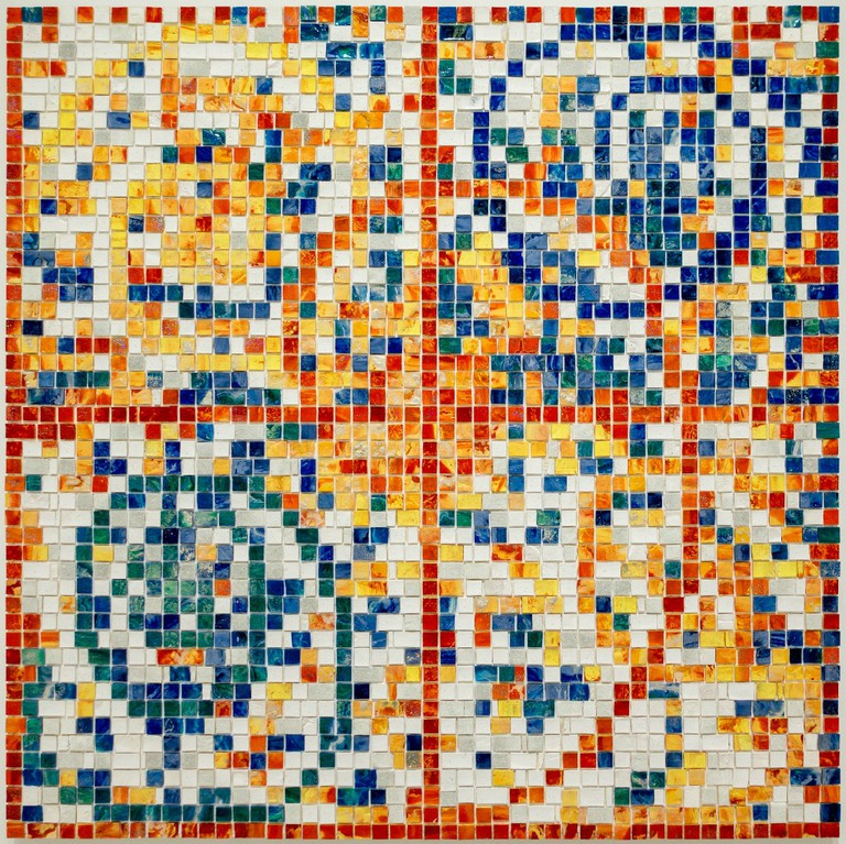 Jack Whitten, E Stamp IV (Five Spirals: For Al Loving), 2007, Walker | © Sharon Mollerus/Flickr