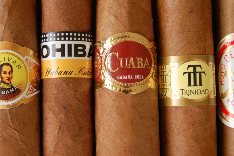 Smoke Cuban cigars like these at Le Cubana Café| © Alex Brown/Flickr