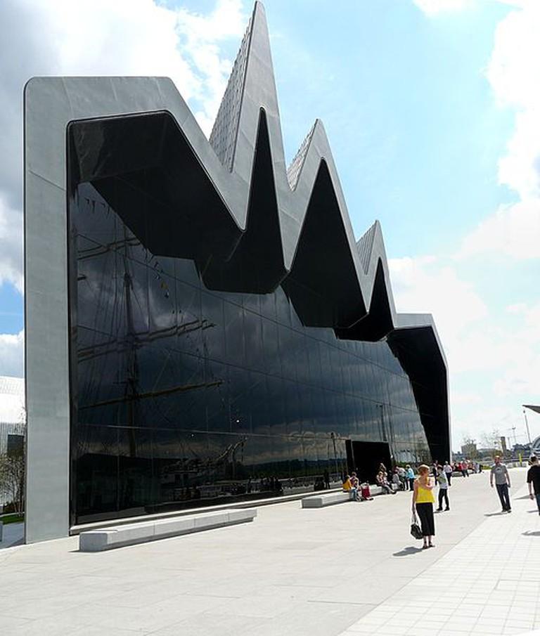 Riverside Museum Glasgow designed by Zaha Hadid © Bjmullan/WikiCommons