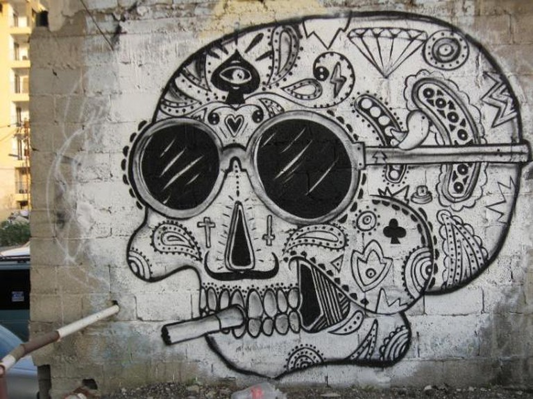 Florentin graffiti skull