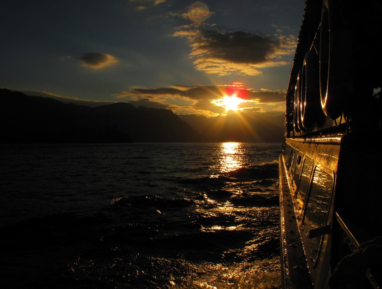 Sunset from the Ullswater Steamer
