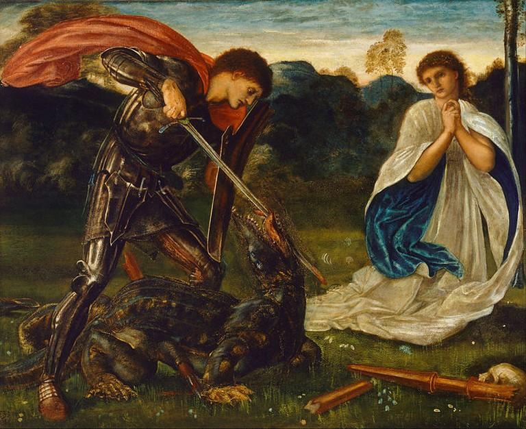 The Fight: St George Kills the Dragon | © DcoetzeeBot / Wikicommons