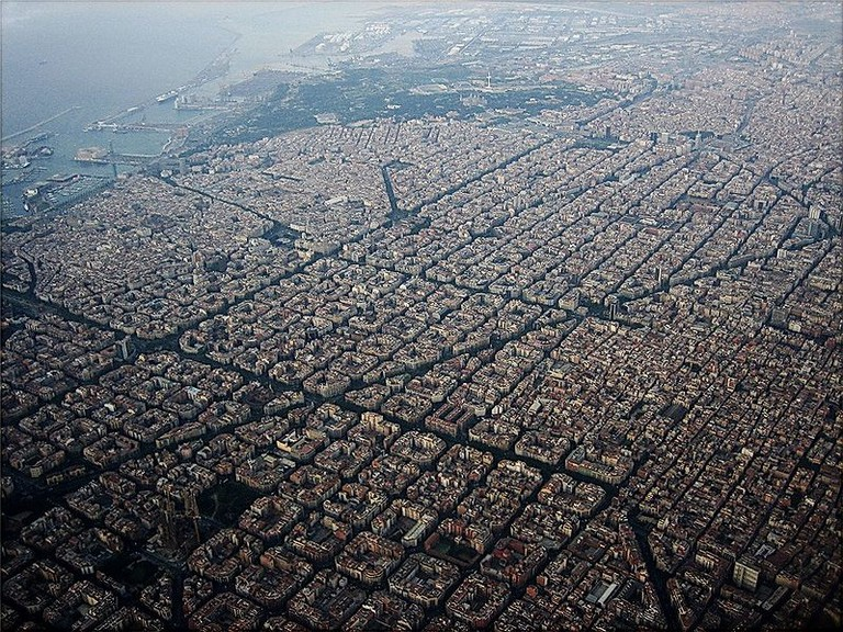 Eixample as seen from above