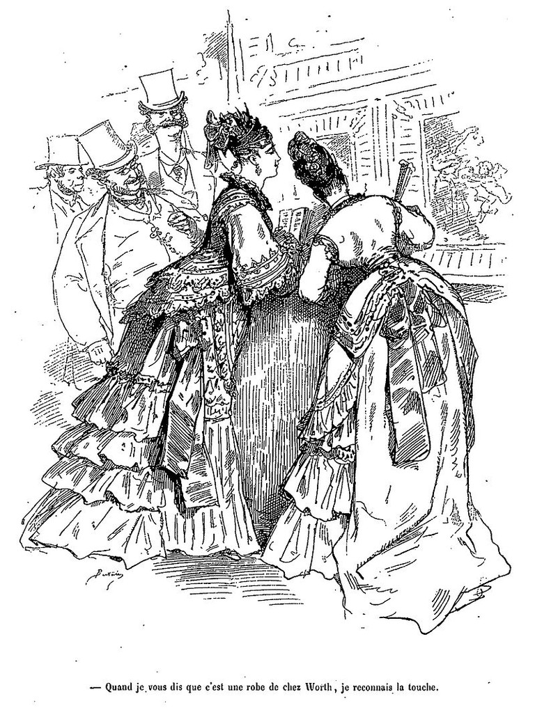 """""""I told you it was a dress from Worth's. I know the look."""",Cartoon (1820-1882) 
