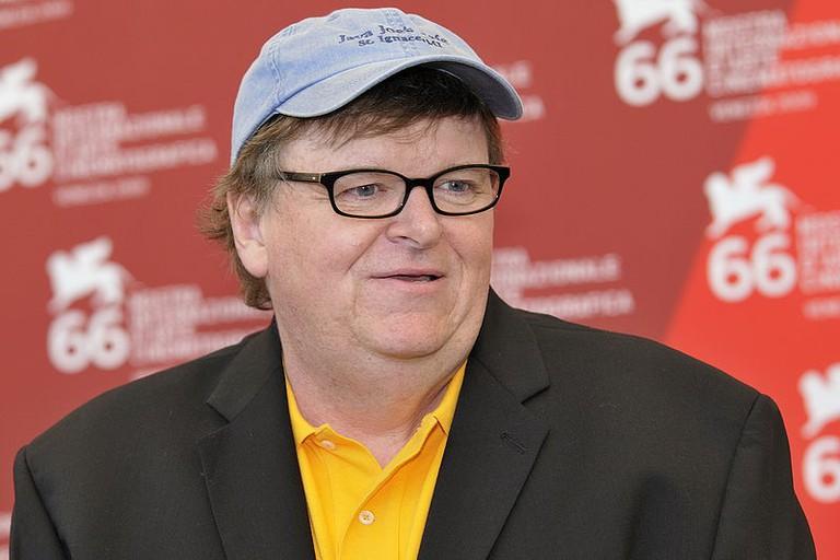 Michael Moore, director of Fahrenheit 9/11 | © nicolas genin/WikiCommons