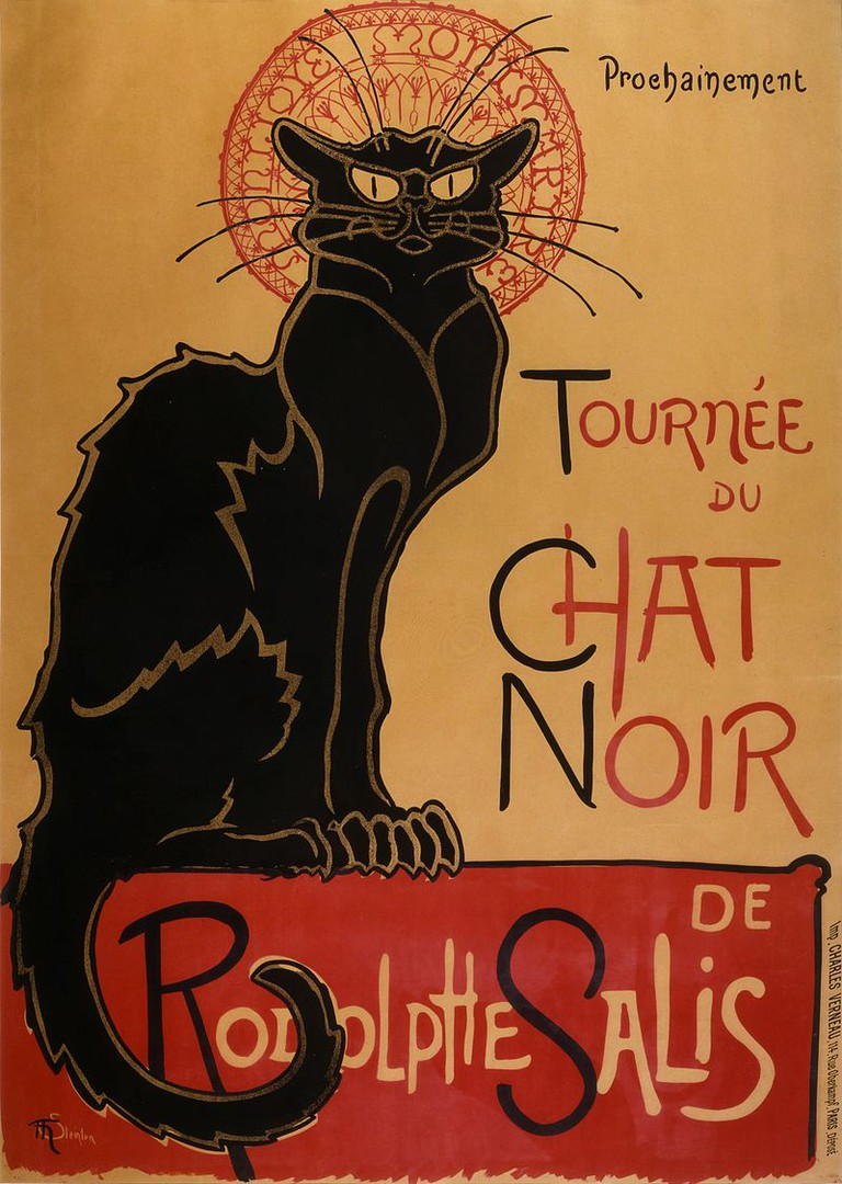 Tour of Rodolphe Salis' Chat Noir By Théophile Steinlen|© BAEF9F-mDJvr0A at Google Cultural Institute/WikiCommons